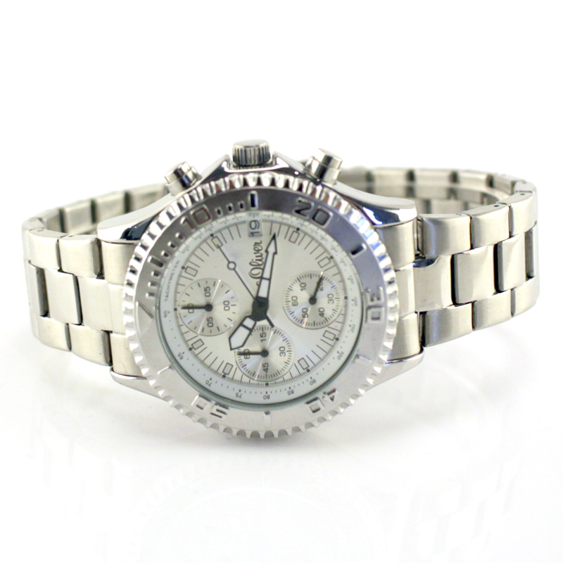 Chronograph Np119€ So Metall S Mcr oliver 15072 Silber ZiPuXOk